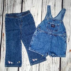 OshKosh & Faded Glory Bundle of Jeans & Overalls